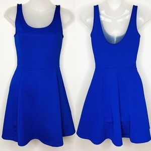 H&M Divided Electric Blue Round Skirt Dress